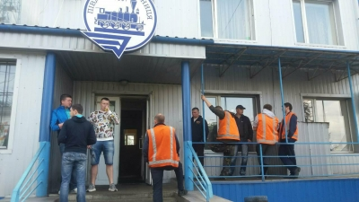 Railway workers are continuing the work-to-rule protest in Ukraine
